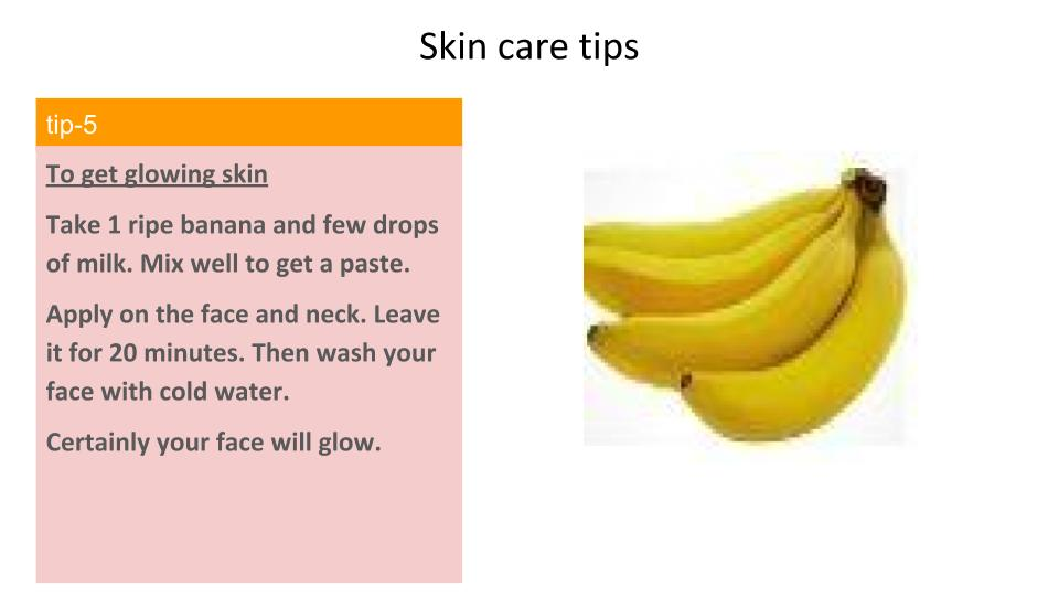 Banana and milk for a glowing skin