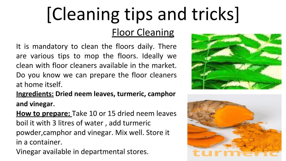 How to prepare floor cleaning liquid at home