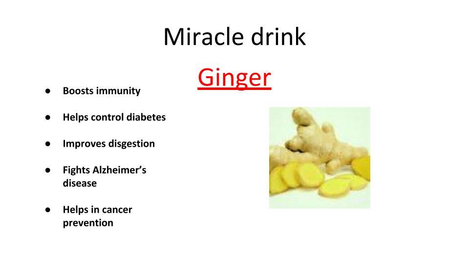Ginger- Immunity booster