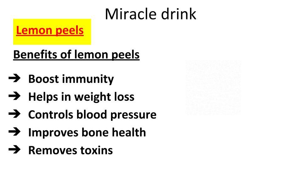 Lemon peels - Immunity booster